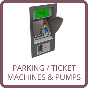 parking, ticket machine and fuel pump pinguard