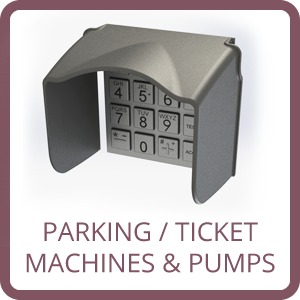 parking, ticket machine and fuel pump pin protection pinguard