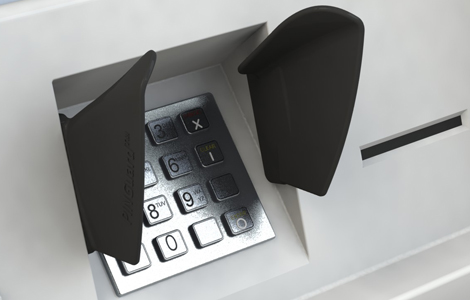 T3 recess access control and key pad shield
