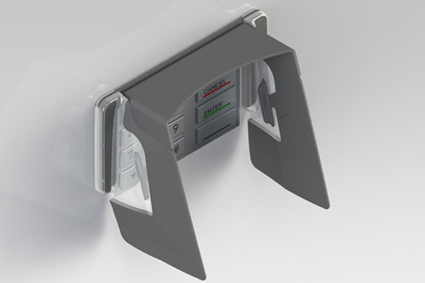 EVO 1i Wide Vertical ATM pin shields