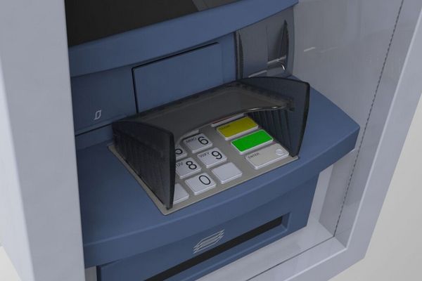 T9+ Opteva pin shield for Diebold ATMs