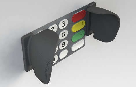 T1 access control and key pad shields for intruder alarm panels
