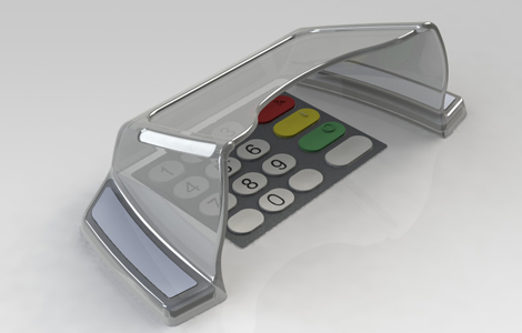 EVO 3i pin shield for NCR SelfServ and Persona ATM models