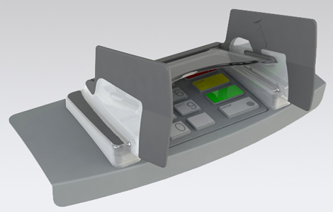 EVO 1I Opteva pin shield for Opteva ATM machines