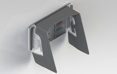EVO 1I Wide Vertical pin shield for ProCash 2250xe and 2350xe ATMs