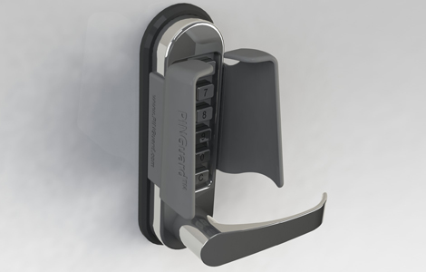 T4 access control and key pad guard for push button locks