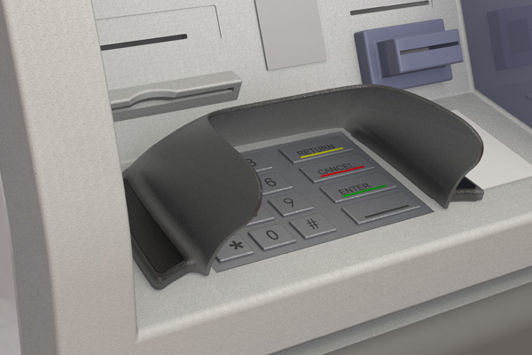 Hybrid wide pin shields for ProCash and CINEO ATMs