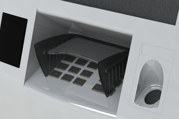 T9+ pin guard for Diebold 569, 429 and Opteva 562c ATMs