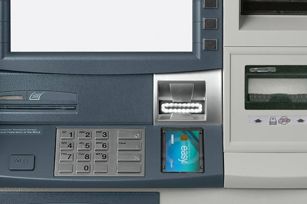 Hybrid Opteva pin shield for Opteva ATMs