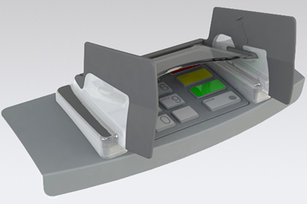 EVO 1I Opteva pin guard for Opteva ATMs
