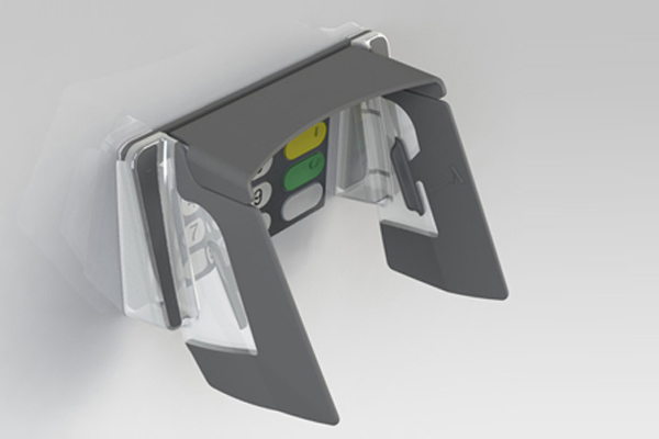 EVO 1i Standard Vertical pin shields for vertical ATMs