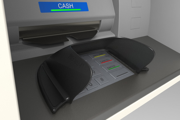 Hybrid Wide ATM pin shield for Procash and CINEO ATMs