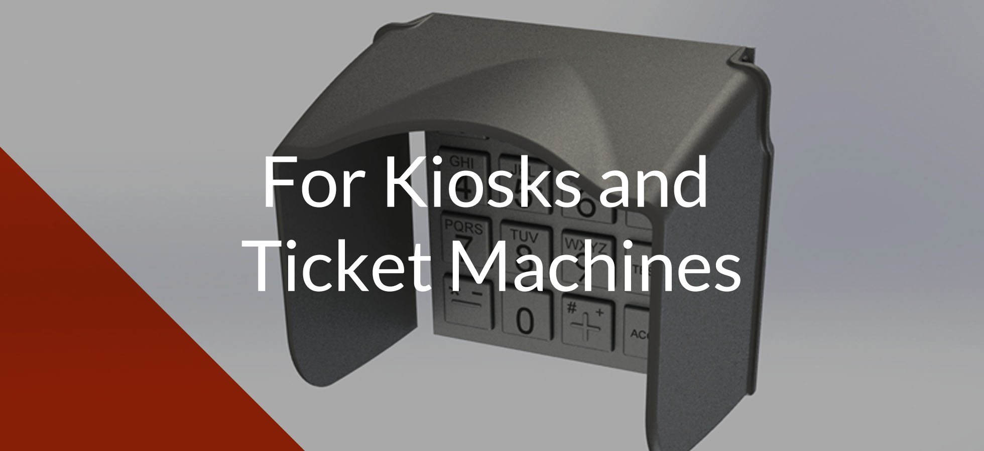 Pin protection for kiosks and ticket machines