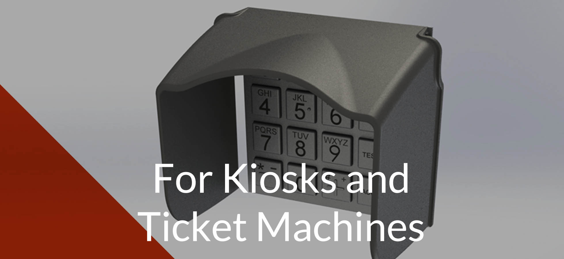 Pin shields for kiosks and ticket machines